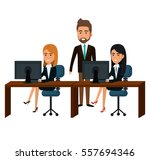 bussiness people working icon | Shutterstock .eps vector #557694346
