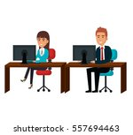 bussiness people working icon   Shutterstock .eps vector #557694463