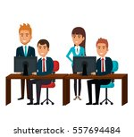 bussiness people working icon | Shutterstock .eps vector #557694484