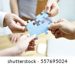 group of business people... | Shutterstock . vector #557695024