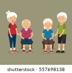 grandparents with sport clothes | Shutterstock .eps vector #557698138
