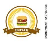 hamburger burger restaurant... | Shutterstock . vector #557700658