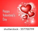 valentine's day card with text | Shutterstock .eps vector #557700799