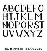modern hand drawn alphabet... | Shutterstock .eps vector #557711218