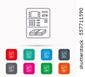 atm icon. automatic cash... | Shutterstock . vector #557711590