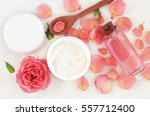 skincare beauty treatment plant ... | Shutterstock . vector #557712400