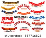 vector icons and ribbons for... | Shutterstock .eps vector #557716828
