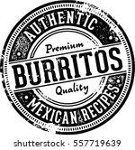 authentic burritos vintage... | Shutterstock .eps vector #557719639