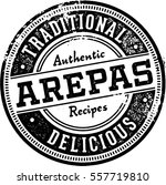vintage  arepa restaurant menu... | Shutterstock .eps vector #557719810