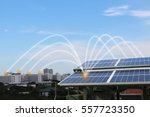 solar panels in  city | Shutterstock . vector #557723350