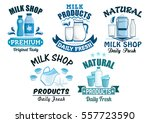 dairy products and milk icons... | Shutterstock .eps vector #557723590