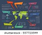 landing page or website flat... | Shutterstock .eps vector #557723599