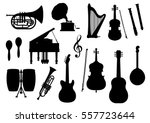 silhouette of musical... | Shutterstock .eps vector #557723644