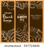 bakery or bread banners of... | Shutterstock .eps vector #557723830