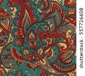 "seamless pattern of ""paisley""...   Shutterstock . vector #557726608"