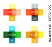 vector color stripes... | Shutterstock .eps vector #557734000