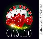 Casino Vector Poster Of Wheel...