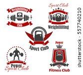 gym sport club icons for... | Shutterstock .eps vector #557740210