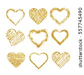 set of isolated hearts made of... | Shutterstock .eps vector #557745490