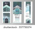 set of roll up banner stands ... | Shutterstock .eps vector #557750374