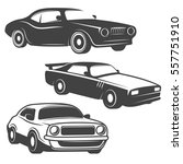 set of cars icons isolated on... | Shutterstock .eps vector #557751910