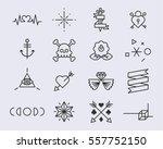 tattoo pattern vector... | Shutterstock .eps vector #557752150