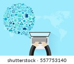 vector business innovation... | Shutterstock .eps vector #557753140