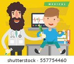 doctor and medical concept... | Shutterstock .eps vector #557754460