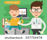 doctor and medical concept... | Shutterstock .eps vector #557754478