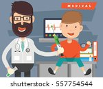 doctor and medical concept... | Shutterstock .eps vector #557754544