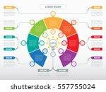 vector infographic of... | Shutterstock .eps vector #557755024