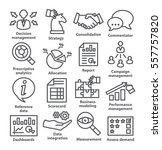 business management icons in... | Shutterstock .eps vector #557757820