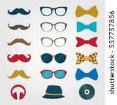hipster icon design vector.... | Shutterstock .eps vector #557757856