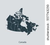 map of canada | Shutterstock .eps vector #557763250