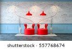modern loft interior   living...   Shutterstock . vector #557768674