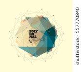 3d low polygonal geometric... | Shutterstock .eps vector #557770840