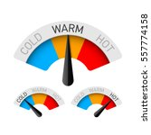 cold  warm and hot temperature... | Shutterstock .eps vector #557774158
