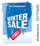 winter sale banner  vector... | Shutterstock .eps vector #557774650