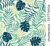 tropical background with palm... | Shutterstock .eps vector #557776924