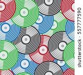 vinyl vector design seamless... | Shutterstock .eps vector #557777590