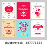 set happy valentine's day cards.... | Shutterstock .eps vector #557778886