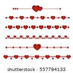 Border Vector Heart. Symbol...