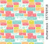 seamless pattern with hand... | Shutterstock .eps vector #557785918