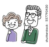 senior couple  looking up at...   Shutterstock .eps vector #557793430