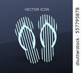 flip flops icon vector... | Shutterstock .eps vector #557795878