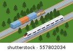 isometric 3d vector... | Shutterstock .eps vector #557802034