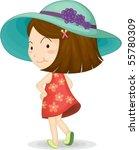 illustration of a girl on white ... | Shutterstock .eps vector #55780309