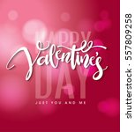 happy valentines day lettering... | Shutterstock .eps vector #557809258