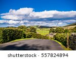 downhill countryside road ... | Shutterstock . vector #557824894
