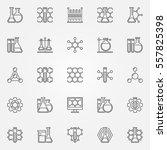 chemistry line icons   vector... | Shutterstock .eps vector #557825398